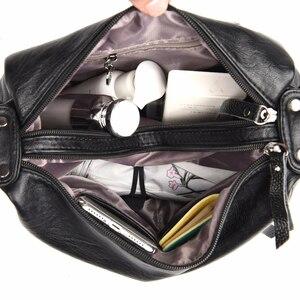 Image 5 - Sacos Crossbody Para As Mulheres Sacos Do Mensageiro do Sexo Feminino de Couro Macio Bolsa de Ombro Sac A Principal Designer De Luxo Do Vintage Bolsas Das Mulheres Novas