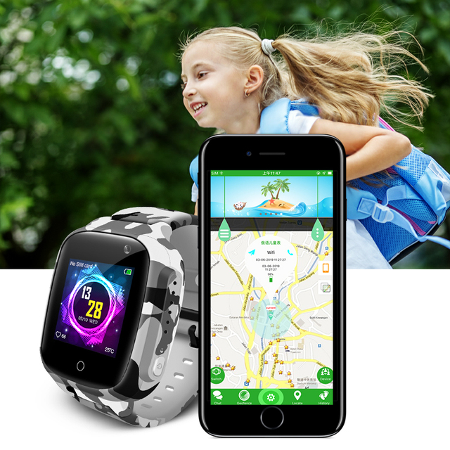 Keoker Smart Watch Kids Colorful Screen GPS WIFI SOS one-click Call Location 600 Mah Anti Lost Monitor Child smartwatch