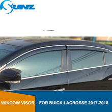 Side window deflectors For BUICK LACROSSE 2017 2018  Window Air Vent Visor Sun Shade Awnings Shelters Guards car styling SUNZ