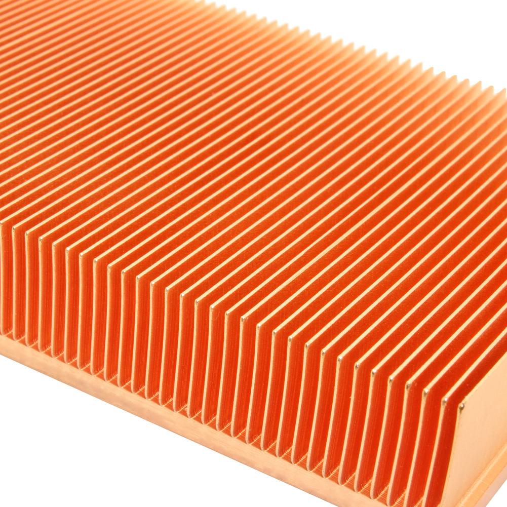 Image 5 - 100% new 200x80x20mm Pure Copper Heatsink Skiving Fin Heat Sink  for Electronic Chip LED Power Amplifier Cooling Coolerheat sinkcopper  heatsinkpure copper heatsink