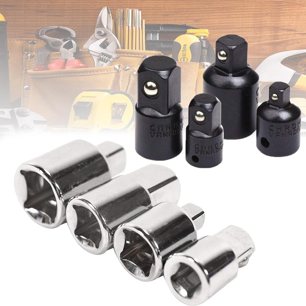 1/4 3/8 1/2 Ratchet Wrench Socket Adapter Keys Converter Drive Reducer Air Impact Craftsman Socket Wrench Adapter Repair Tools