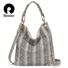 REALER luxury handbags women bags designer serpentine patter