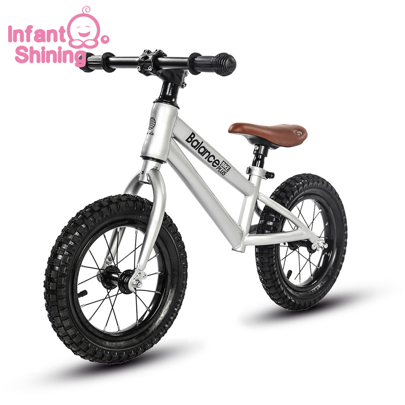 Infant Shining Baby Bike Kids Bicycle Ride on Toys Children Balance Car No Pedal 3 6 Years Old Beginners Baby Ski Car|Ride On Cars| |  - title=