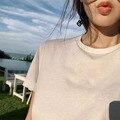 Женская футболка в английском стиле YVYVLOLO Za, простая Однотонная футболка из хлопка с круглым вырезом, 100% соответствие, базовая футболка в сти...