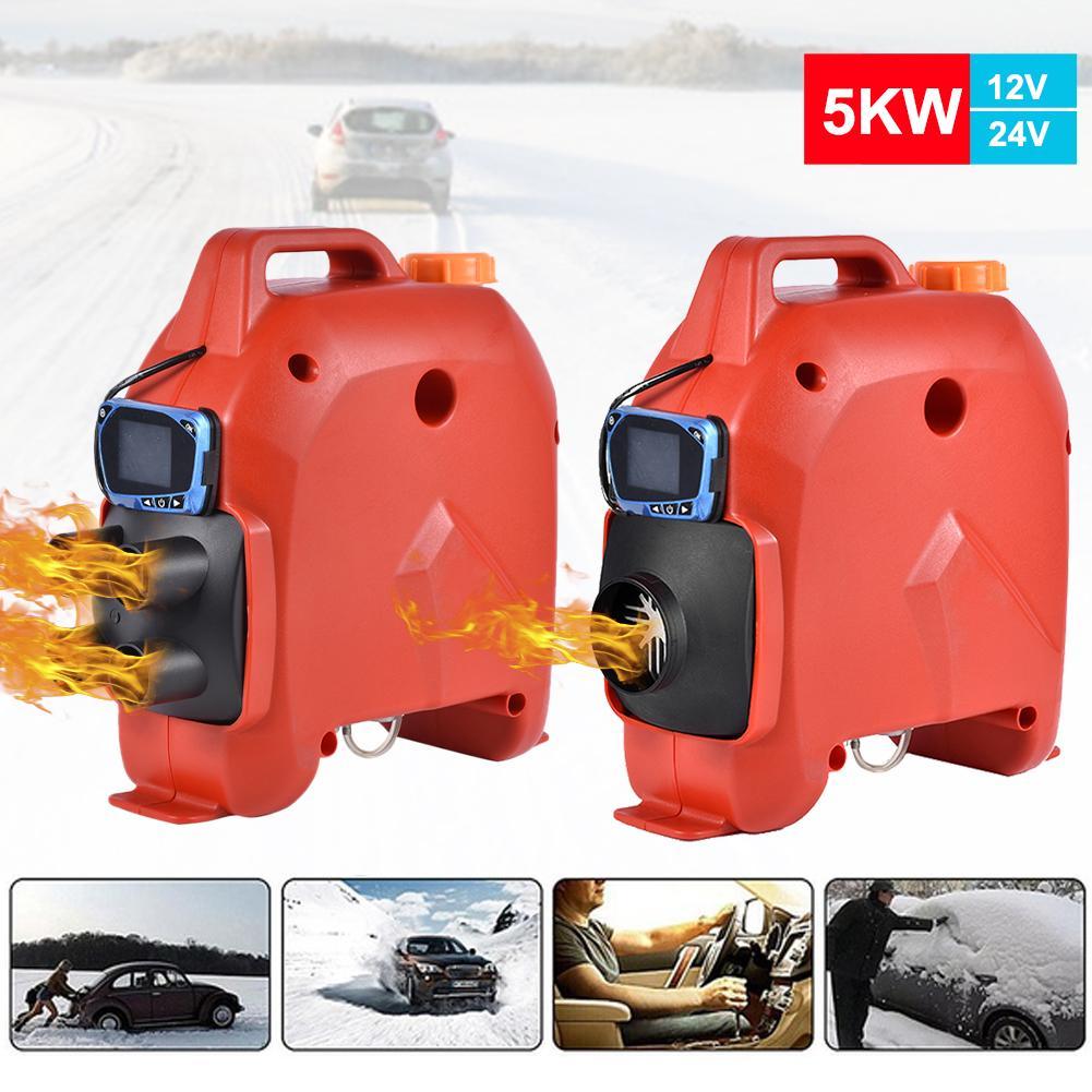 Calefator de estacionamento do carro com monitor do lcd 12 v/24 v 5kw calefator do ar universal para veículos de carga barcos caminhões carro do acampamento
