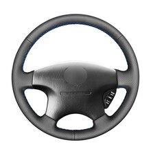 สีดำ PU พวงมาลัยรถหนังแท้สำหรับ Honda Accord 6 1998 2002 Odyssey 1998 2001 Acura CL 1998 2003 MDX