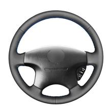 Tampa para volante de carro em couro artificial, preta, pu, para honda accord 6 1998  2002 odyssey 1998 2001 acura cl 1998 2003 mdx
