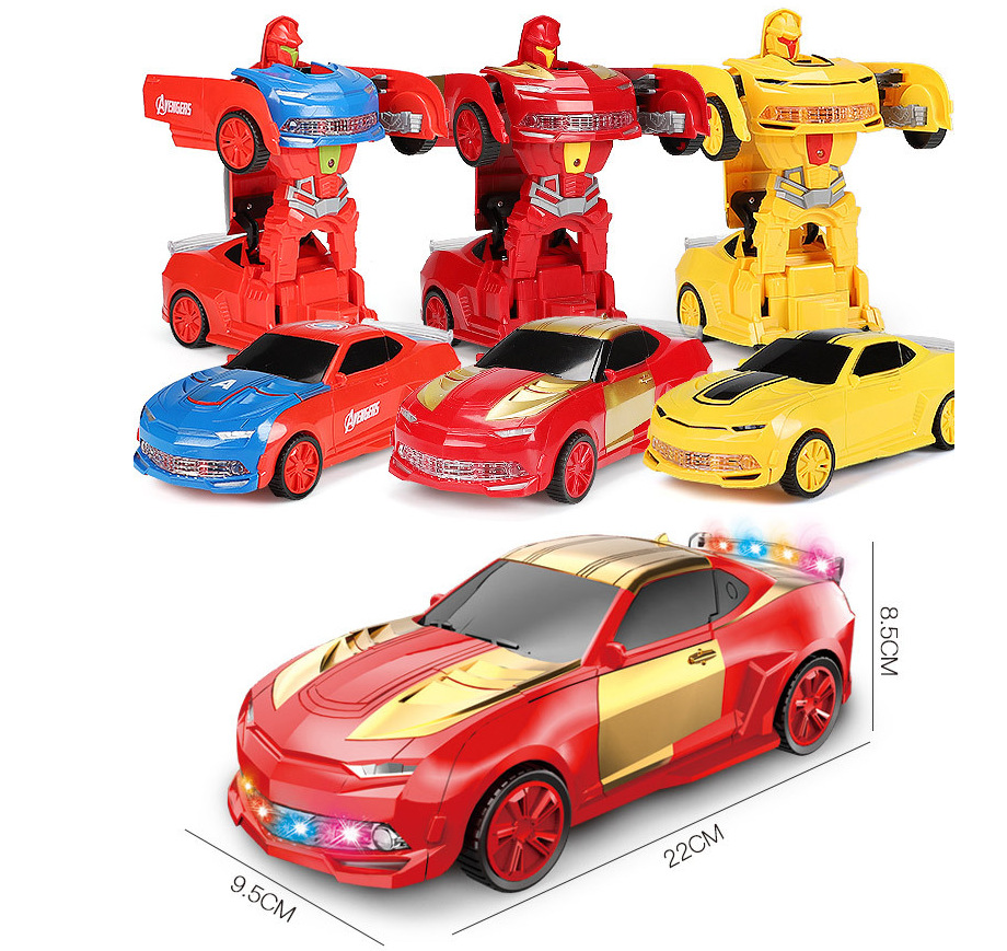Online Celebrity Douyin Toy Transformers Remote-control Automobile Iron Man Dancing Robot Electric Boy CHILDREN'S Toy