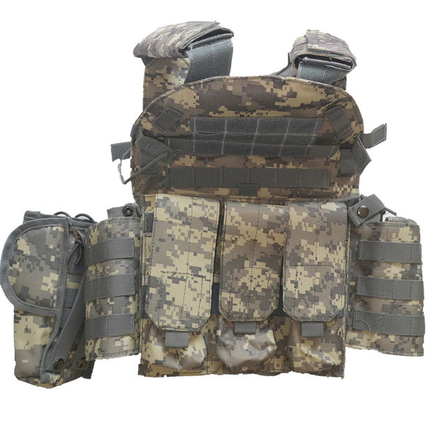 Men Military Tactical Vest Paintball Camouflage Molle Hunting Vest Assault Shooting Airsoft Vests Outdoor Clothes Accessories 6