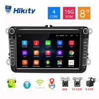 Hikity 8 Android 8.1 lecteur DVD multimédia de voiture 2 Din GPS Autoradio de Navigation pour Skoda VW Passat B6 Polo Golf 4 5 Touran Seat
