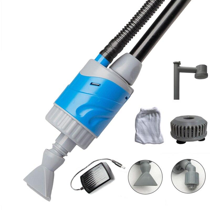 Pompe automatique de changeur d'eau d'aquarium d'ascenseur de 3m pour le nettoyeur de gravier de réservoir de poissons outil de nettoyage Siphon de filtre de rondelle de sable 110v 220v 20W