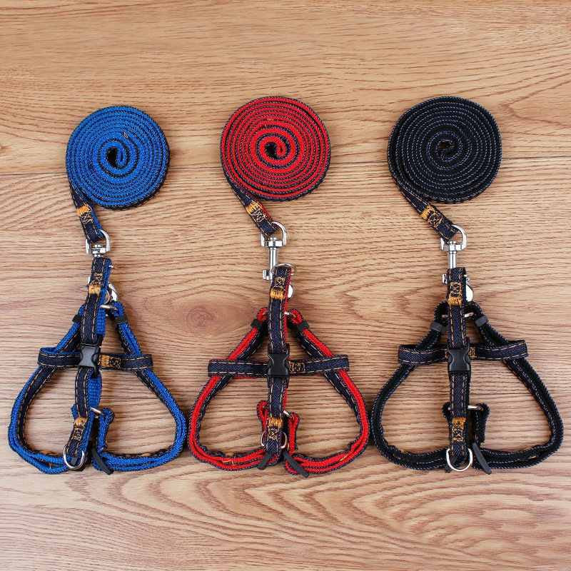 Dog Cowboy Hand Holding Rope Chest And Back Small Large Dog Pet Traction Rope