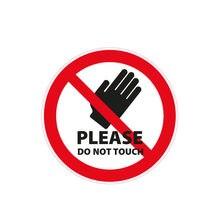 Warnzeichen por favor não toque decalques de advertência etiqueta do carro carros acessórios pvc decorativo protetor solar à prova d12 água decalque 12*12cm
