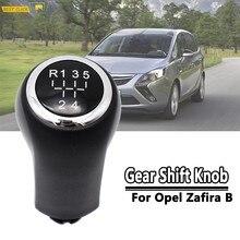 Pommeau de levier de vitesse chromé MT, pour Opel/Vauxhall Astra H Zafira B Corsa D 5 vitesses