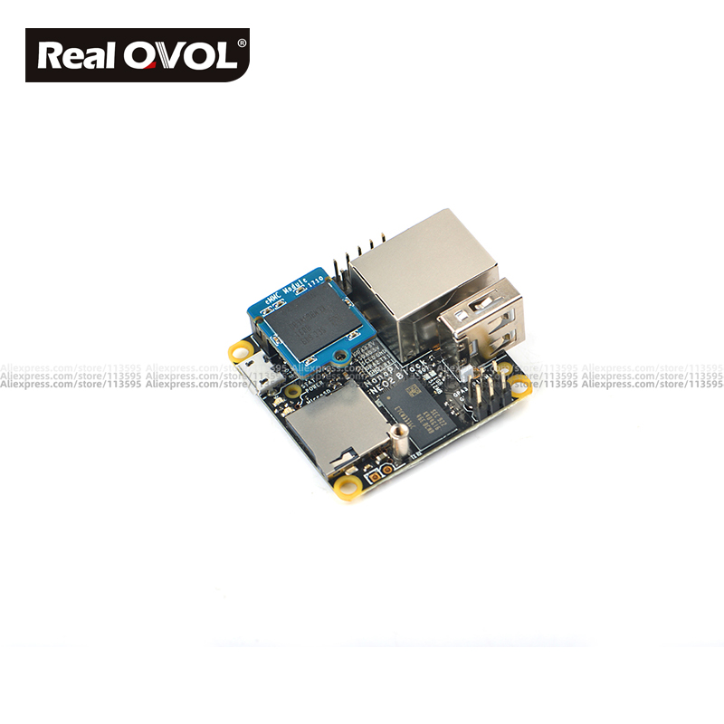 FriendlyARM NanoPi NEO2 Black lts 1GB ARM board A53 mini linux плата RealQvol emmc TF карта Поддержка быстрее, чем Raspberry PI
