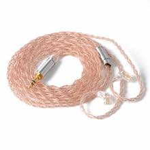 NICEHCK 6N UPOCC bakır + bakır gümüş alaşımlı karışık kablo Litz 3.5/2.5/4.4 MMCX/0.78mm 2Pin/DQC 2Pin için MK3 Moondrop QDC TANCHJIM