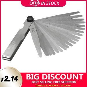 Image 1 - 1 Set Metric Feeler Gauge 17/20 Blades 0.02 1.00mm For Measurements Tools