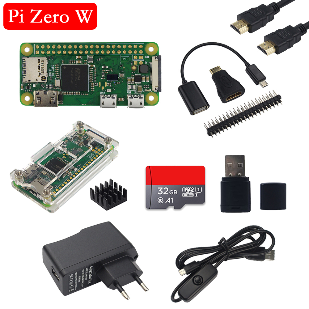 Raspberry Pi Zero W (Wireless) 1G Hz CPU 512M RAM On-board WiFi Bluetooth 1080P Video Output Raspberry Pi Zero W Board Pi 0 W