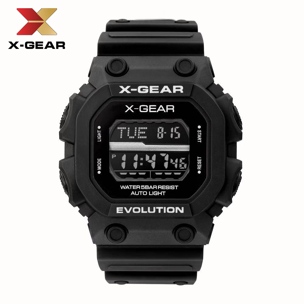 X-GEAR watch outdoor sports running diving swimming waterproof led digital watches Military Shock Resistant watch