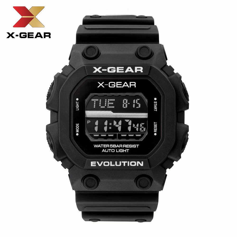 X-GEAR vigilanza di sport all'aria aperta da corsa immersioni nuoto impermeabile orologi digitali a led Militare Resistente Agli Urti orologio
