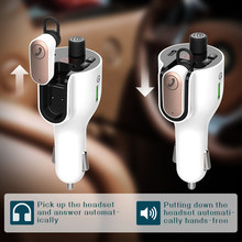 Car Fm Transmitter Bluetooth 5.0 Earpbone Radio modulator Adapter PD/QC3.0 USB Car Charger Wireless Handsfree Car Kit
