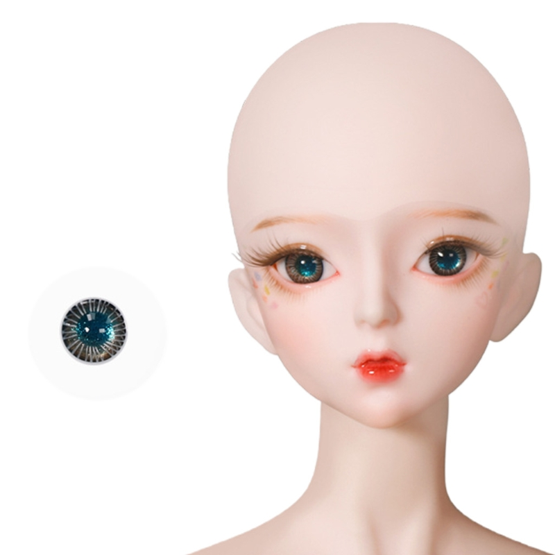 For Bjd Eyeball 14mm Glass Material Green Blue Eyes Suitable For 1/3 1/4 Doll Accessories 12