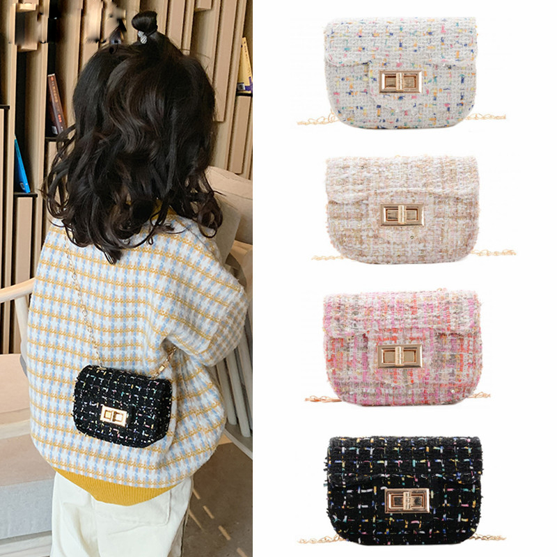 Baby Mini Purses And Handbags 2020 New Small Wallet Luxury Woolen Kids Cross Body Bag Girls Clutch Purse Bolsa Gift