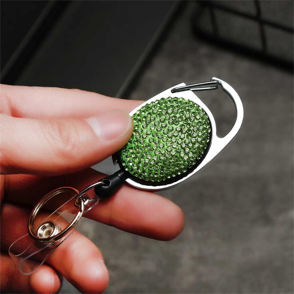 1/2PC Unisex zwijacz Pull brelok do plakietka identyfikacyjna smycz nazwa Tag torebeczka na klucze karty zaczep do paska trwałe klucz brelok do torebki łańcuch klip