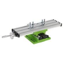 Mini precisão multifunções fresadora bancada furadeira torno worktable x y-eixo ajuste coordenar mesa