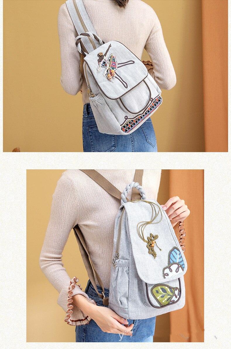 Moda nacional string apliques mulher compras mochila!