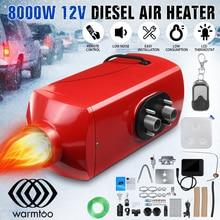 Металлический корпус, автомобильный обогреватель 12 В 8 кВт, Дизельный подогреватель воздуха, зимний размораживание, автомобильный парковочный обогреватель+ ЖК-цифровой пульт дистанционного управления для грузовика, автобуса