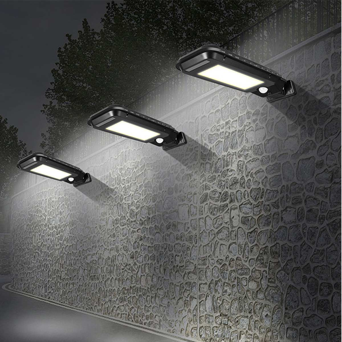 40/60 Led Solar-straßenlaternen 100/210 COB Outdoor Beleuchtung Sicherheits Lampe Motion Sensor Wasserdichte IP65 Weiß/Gelb Wand Lampe