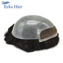 Французская кружевная Передняя Мужская парик из прозрачной искусственной