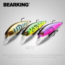 Bearking Squad Minnow 3 Stuks Per Set 95Mm 14.8G 65Mm 6G Wobbler Vissen Lokt Kunstmatige Harde aas Diepte 0.9-1.5M Jerkbaits Bass