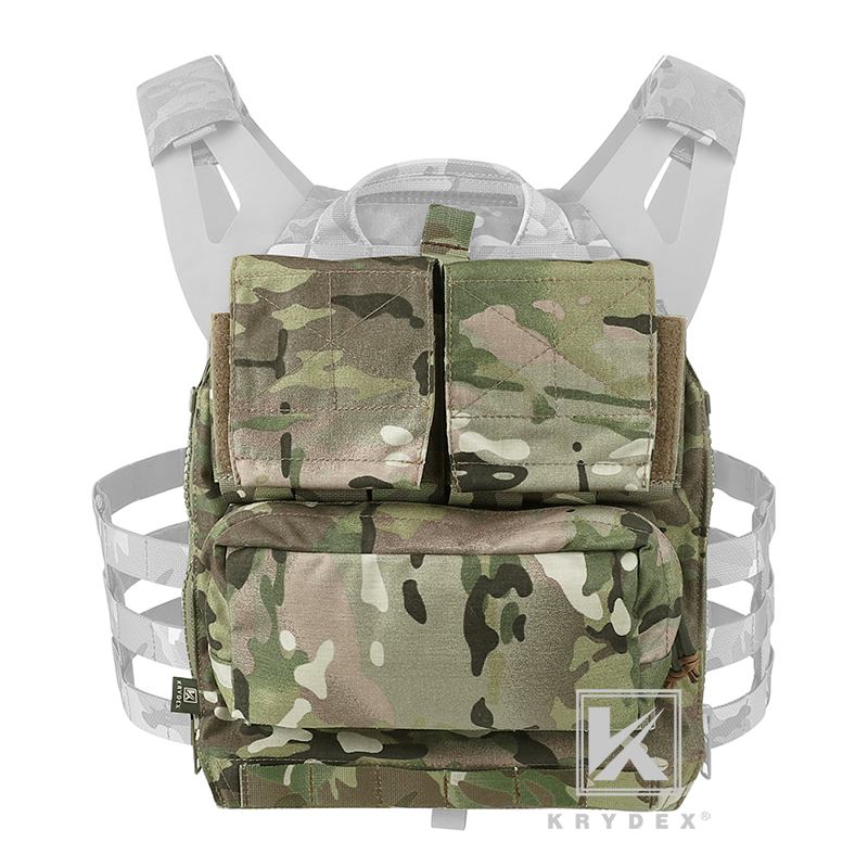 KRYDEX Tactical Pack Zip-on Panel Backpack Multicam Tactical Airsoft Combat Gear Carrier Bag For CPC NCPC AVS JPC2.0 Vest