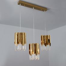 Modern Luxury Gold Crystal Small Round Chandeliers For Dining Room Bedroom Chandelier Lighting Kitchen Island Led Light Fixtures