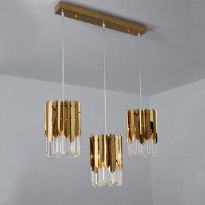 Image 1 - Modern lüks altın kristal küçük yuvarlak avize aydınlatma Led yemek odası yatak odası armatürleri mutfak adası