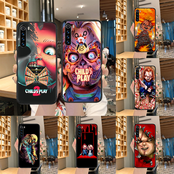 Child's Play cult of chucky Phone case For Xiaomi Redmi Note 7 8 8T 9 9S 4X 7 7A 9A K30 Pro Ultra black bumper soft cover tpu image