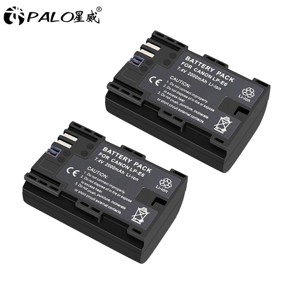 パロLP-E6 lp E6 LPE6 2000カメラのバッテリーパックマークiiマークキヤノンeos 5D 6D 7D 60D 60Da 70D 80Dデジタル一眼レフ