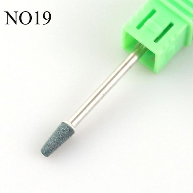 21 Type Ceramic Stones Nail Drill Corundum Rotary Bit Milling Cutters Manicure Machine Burr Cuticle Clean Files Nail Art Tools 4