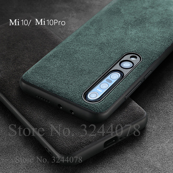 Italian Suede Like Fabrics Leather Back Cover for Xiaomi Mi 10 10 Pro 9 8 6 Cases Luxury Phone Housing Shell Case for Mi10 Pro