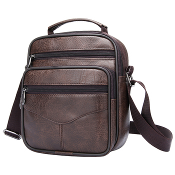 Men Messenger Bag Leather Vintage Crossbody Bag High Capacity Business Briefcase Handbag Man Casual Shoulder Bags Cross Body aerlis men messenger shoulder bag canvas leather business briefcase casual solid zipper handbag male satchel crossbody bags 4506