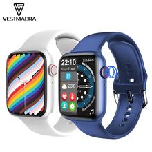 Oryginalny IWO W37 Smart Watch Series 7 Bluetooth otrzymać telefon zwrotny od w pełni dotykowy ekran mężczyźni kobiety niestandardowe Dail Smartwatch PK W26 Pro HW22 DT100 tanie tanio VESTMADRA CN (pochodzenie) Brak Na nadgarstek Zgodna ze wszystkimi 128 MB Krokomierz Rejestrator aktywności fizycznej