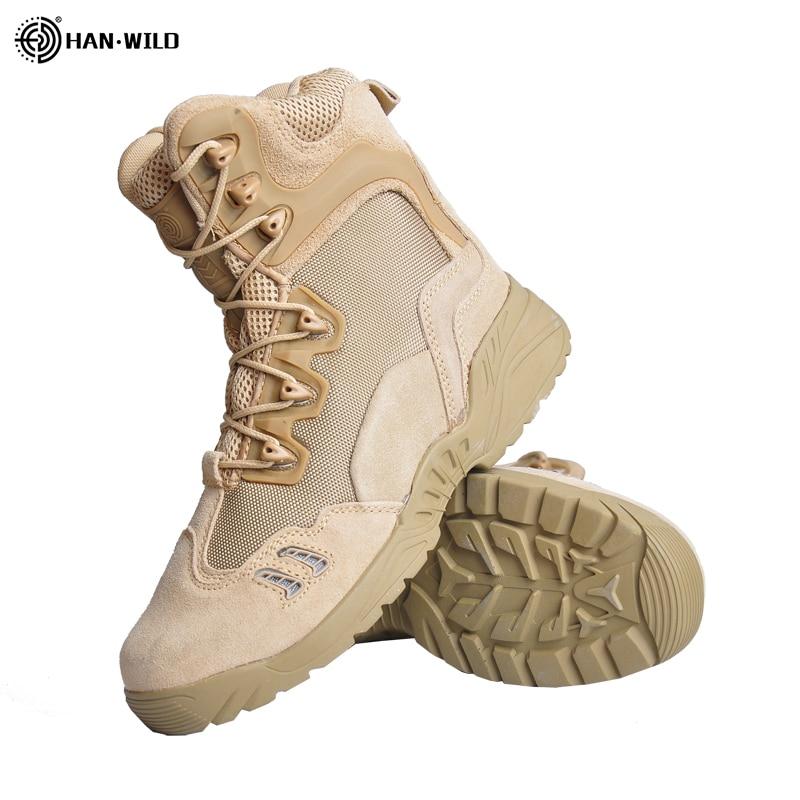 HAN WILD Waterproof Hiking Shoes Woodland Mens Hunting Woman Rock Climbing Mountain Tactical Bota Militar Trekking Outdoor Boots