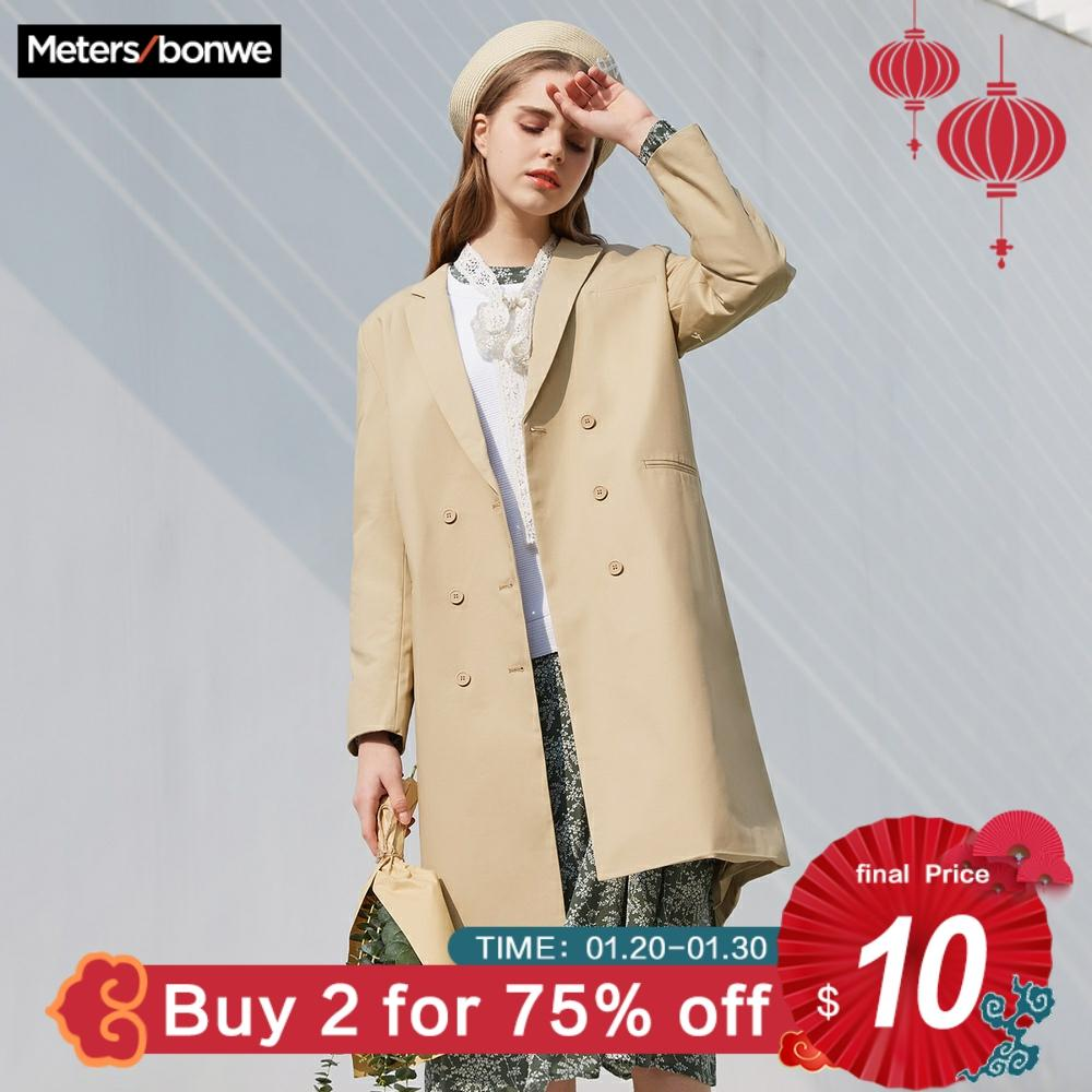 Metersbonwe 2020 Spring New Fashion Trench Female Windbreaker Coat Women Casual Trench Office Lady Wild Retro Suit Trench Coat