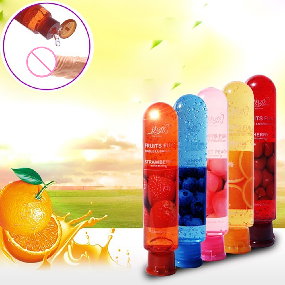 80ml Adult Sexual Body Smooth Fruity Lubricant Gel Edible Flavor Sex Health Product Perfect to warm up sensual massage sex toys 3