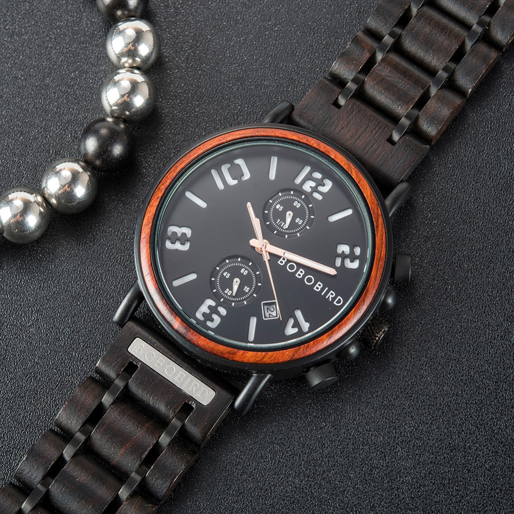 BOBO BIRD Men's Vintage Wooden Watches S26