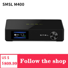 SMSL M400 Player Bluetooth UAT Decoder DAC Chip AK4499 Support MQA Decoding DSD 32 bit 768kHz