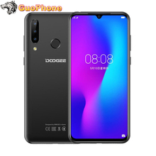 """DOOGEE N20 SmartPhone 6.3 """"4GB RAM 64GB ROM parmak izi 16MP üçlü arka kamera MT6763 Octa çekirdek 4350mAh 4G LTE cep telefonu"""