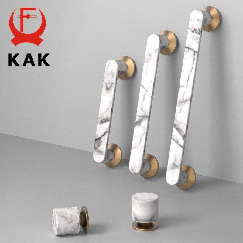 KAK Marble Roman Style Cabinet Pulls Luxury Drawer Knobs And Handles Wardrobe Door Handle European Furniture Handle Hardware